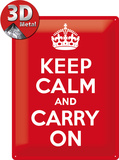 Keep Calm And Carry On - Restez calme et continuez Plaque en métal