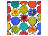 Circle Pattern with Flowers I Prints by Irena Orlov