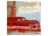 Red Abstract Car Art by  Yashna