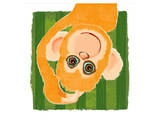Monkey portrait Prints by Penny Keenan