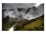 Machu Picchu Fog Poster by Nish Nalbandian