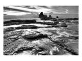 Black and White Coastal Rocks Prints by Nish Nalbandian