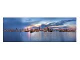 Sunset Panorama Harbor Prints by Nish Nalbandian