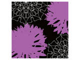 VIBRANT PURPLE FLORAL Posters by  Yashna
