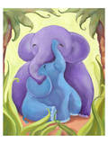 Elephant Mommy and Baby I Prints by Penny Keenan