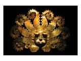 Inca Sun God Mask Posters