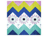Chevron with Flowers Prints by Irena Orlov