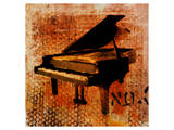 Old Piano Print by Irena Orlov