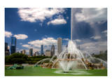 Buckingham Fountain Chicago Prints by Michael Polk