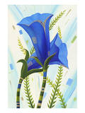 Blue Flowers Posters by Penny Keenan