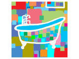 Colorful Bath I Posters by  Yashna