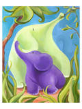 Elephant Mommy and Baby II Print by Penny Keenan