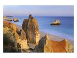 Praia da Rocha on the Coast between Portimao and Alvor, Algarve, Faro, Portugal Prints