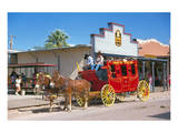 Old stagecoach at the western town Tombstone, Arizona, USA Posters