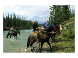 Riding in Banff National Park, Alberta, Canada Posters