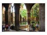 Cloister of Catedral La Seu in the Barri Gotic, Barcelona, Catalonia, Spain Posters