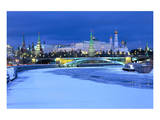 Moskva River with a view of the Great Kremlin Palace, Moscow, Russia Posters