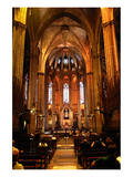 Nave of Catedral La Seu in the Barri Gotic, Barcelona, Catalonia, Spain Prints
