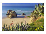 Praia da Rocha on the Coast between Portimao and Alvor, Algarve, Faro, Portugal Posters