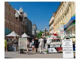Pedestrian Precinct, Arbat, Moscow, Russia Prints