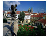 Mala strana Baroque garden, Prague, Central Bohemia, Czech Republic Poster