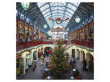 Christmas decorations in the Covent Garden, London, United Kingdom of Great Britain Art