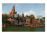 Big Thunder Mountain Train in the Frontier Land, Disneyland Park Paris, Ile-de-France, France Print