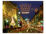 Christmas lights near Liberty in London, South England, Great Britain Posters