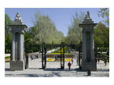 Entrance gate to the Parque del Retiro in Madrid, Spain Prints