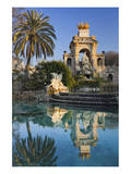 Fountain in the Parc de la Ciutadella in Barcelona, Catalonia, Spain Art