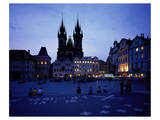 The Stone Bell House and Church of our Lady at Tyn, Old Town Square, Prague, Czech Republic Print