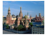 Saint Basil's Cathedral and Spassky Tower, Red Square, Moscow, Russia Posters