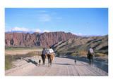 Gauchos in Quebrada de las Flechas near Salta, Argentina Print