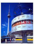 Worldclock Alexanderpl. Berlin Poster