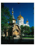 Cathedral of Christ the Saviour, Moscow, Russia Print