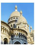 Cupolas of Sacre Coeur Basilica at Montmartre, Paris, Ile de France, France Posters