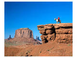 Cowboy at Monument Valley, Navajo Tribal Park, Arizona, USA Prints