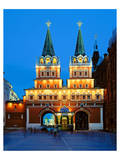 Voskressensky Gate to the Red Square, Moscow, Russia Prints