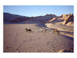 Horsemen in the Valle de la Muerte, Atacama Desert, Chile Prints