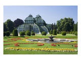 Palm House in the palace garden of Schoenbrunn Palace, Vienna, Austria Posters