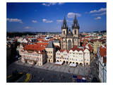 Church of our Lady at Tyn, Old Town Square, Prague, Central Bohemia, Czech Republic Prints