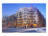 Casa Mila La Pedrera at Passeig de Gracia, Barcelona, Catalonia, Spain Art