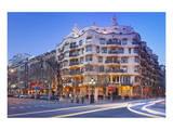 Casa Mila La Pedrera at Passeig de Gracia, Barcelona, Catalonia, Spain Print