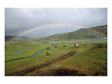 Rainbow at Lake Alftavatn, Fjallabak National Park, Iceland Prints