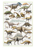 Dinosaurs, Cretaceous Period Posters