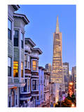 View from the Urban District of North Beach towards Transamerica Pyramid, San Francisco Poster