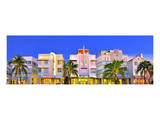 Hotels on Ocean Drive in the Art Deco District of South Miami Beach in Miami, Florida, USA Print