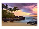 Makena Beach State Park with View towards Molokini Island, Island of Maui, Hawaii, USA Posters