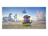 Lifeguard Station on the Beach, Miami Beach, Florida, USA Posters