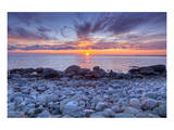 Sunset at Green Point in Gros Morne National Park on the West Coast, Newfoundland, Canada Posters